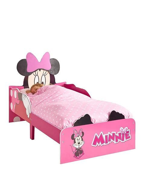 minnie mouse bed minnie mouse snuggletime toddler bed littlewoods com