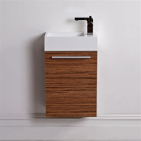 lusso quartet mini wall mounted cloakroom vanity