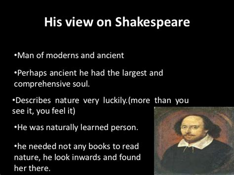 Thesis William Shakespeare And Ben by Paper 3 Literary Theory Criticism View S On Shakespeare And Ben