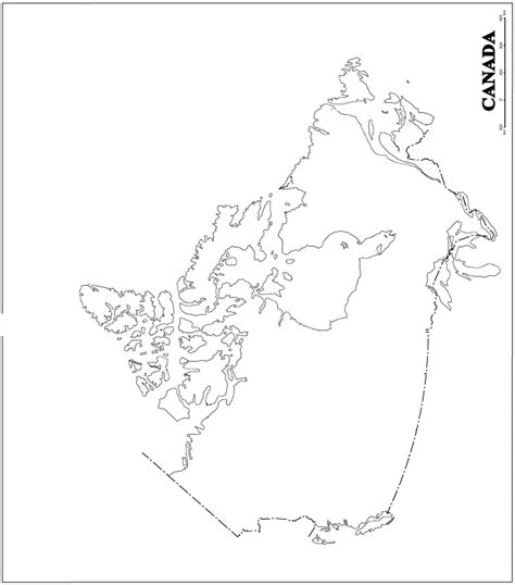 blank map of canada for canada blank map
