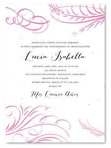quinceanera invitation templates quinceanera wording for invitations in images