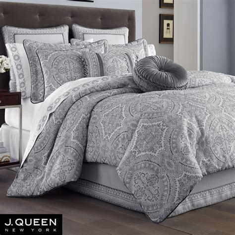 j queen new york bedding colette silver comforter bedding by j queen new york