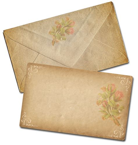decorative cards and envelopes vintage scrapbooking august 2010
