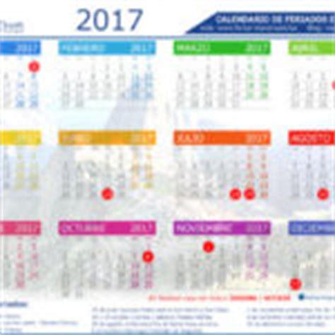Calendario 2017 Feriados Peru Calendario De Feriados Largos 2013 En Per 250