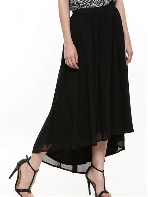 buy femella high low maxi skirt for s black