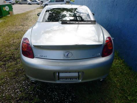 lexus convertible 4 door 2002 lexus sc430 base convertible 2 door 4 3l