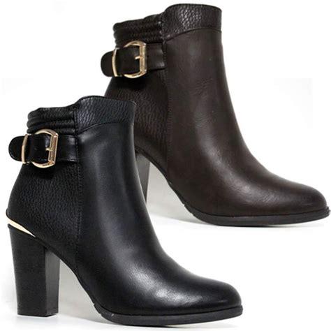 high heel biker boots high heel ankle boots womens smart office block