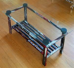 Hockey Coffee Table Coffee Table Glass Top Hockey Stick Builds