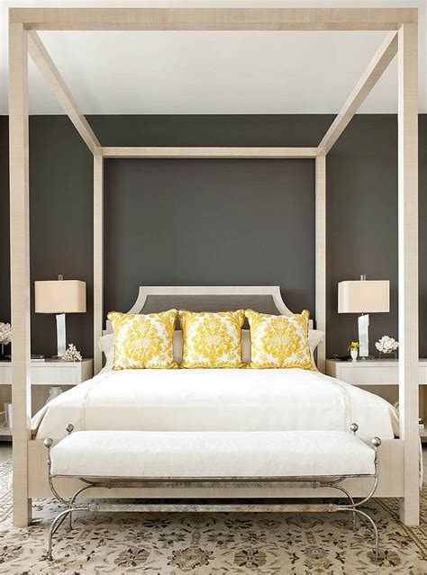 grey walls color accents cheerful sophistication 25 elegant gray and yellow bedrooms
