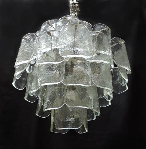 contemporary chandeliers italian lighting centre large mid century italian modern camer glass chandelier