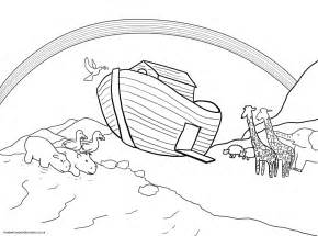 Noahs Ark Dove Colouring Pages sketch template