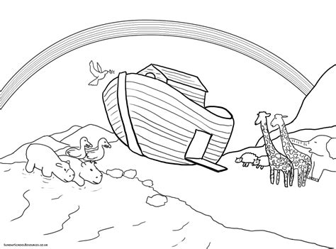 pin coloring page noahs ark img 10531 on pinterest