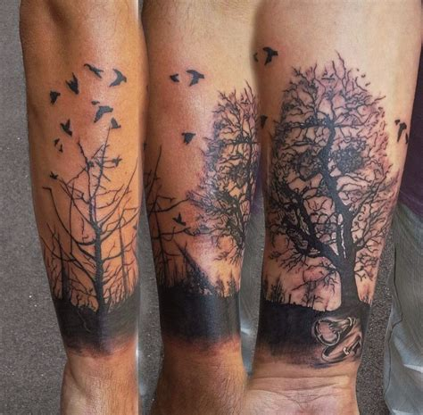 forest tree tattoo forearm forest designs ideas and meaning tattoos