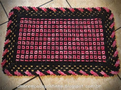 tapete croche on pinterest throw rugs crochet rugs and tapete de 216 best images about croch 234 tapetes 2 crochet rugs