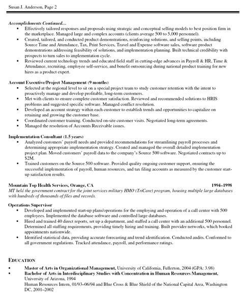 project manager cv sample