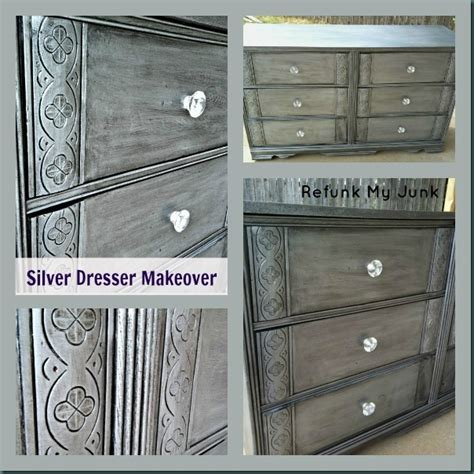 How To Paint A Dresser Metallic Silver by The Best Of Rmj Painted Dresser In Metallic Silver