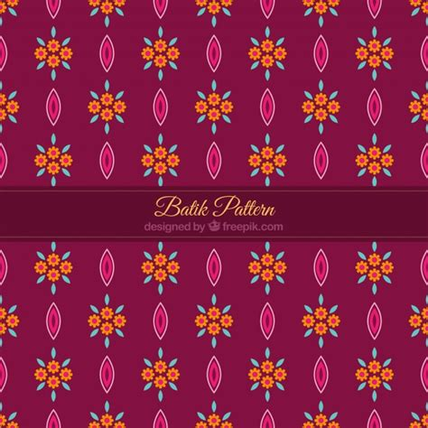 pattern batik free vector flower pattern in batik style vector free download