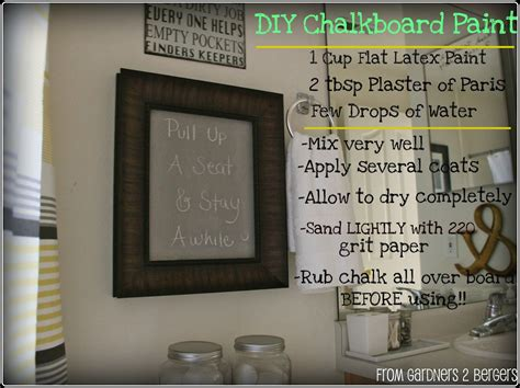 diy chalkboard recipe from gardners 2 bergers 3 chalkboard projects diy