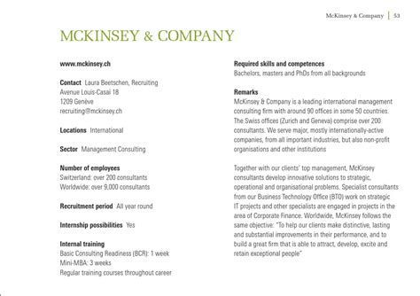Mckinsey Mini Mba by Programme Connexion 2011 By The Graduate Institute
