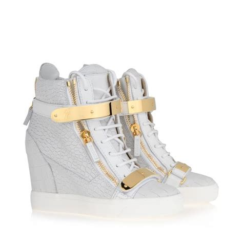 giuseppe zanotti womens sneakers shoes womens giuseppe zanotti high white fashion