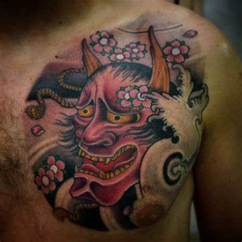 hannya mask tattoo and meaning hannya mask tattoo japanese tattoos pinterest hannya