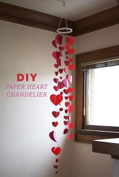 How To Make A Chandelier Out Of Paper - paper hearts diy paper and paper decorations on