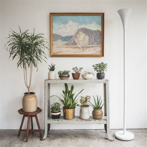 Living Room Plant Decor by Table Becomes Plant Stand Apartment Decorating Ideas