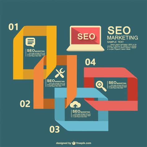Seo Marketing Company by Seo Marketing Infographic With Laptop Vector Free