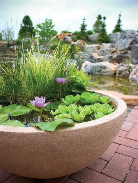 ideen für gartengestaltung pflanzen wasserspiel idee garten