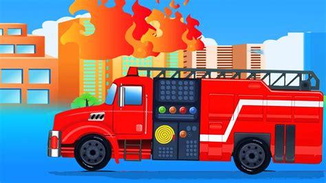 mobil garasi api truk kartun  anak kids car