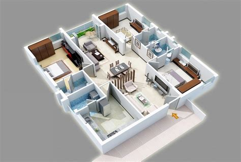 three bedrooms 25 three bedroom house apartment floor plans