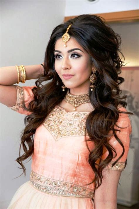 hair cut for long hairs on sari open party hairstyles for long hair with lehenga pictures 2018
