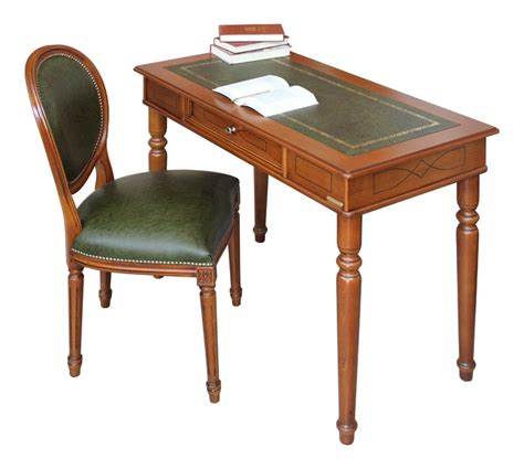 sedia scrittoio scrittoio piano in pelle sedia abbinata arteferretto