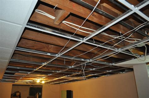 Drop Ceiling Installation In Kirkwood Basement How To Install A Suspended Ceiling