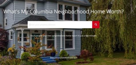 columbia neighborhood home values