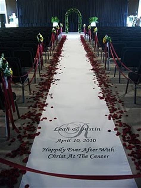 signature wedding aisle runners happily after with - Signature Wedding Aisle Runners