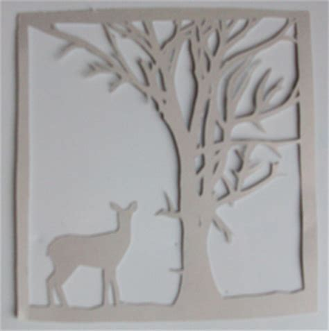 akit digital design free papercutting template deer