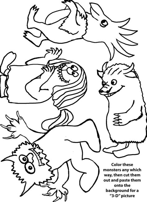 wild things coloring pages az coloring pages