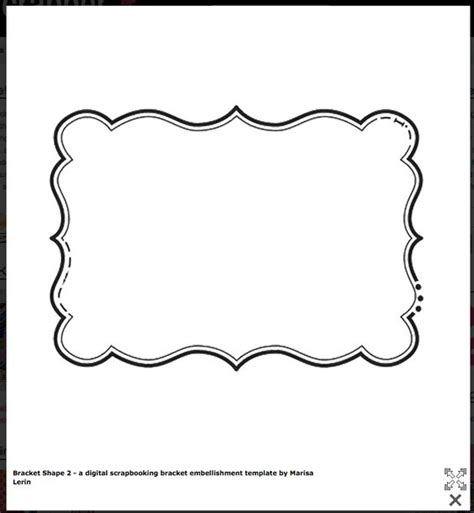 Shaping Template bracket shape free templates cards envelopes