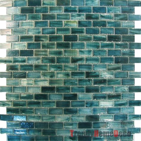 Blue Glass Tile Kitchen Backsplash Sle Blue Recycle Glass Mosaic Tile Backsplash Kitchen Wall Sink Bath Wall Ebay