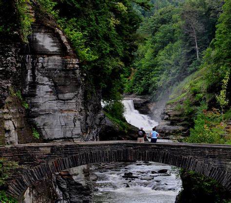State Garden New by File Lower Fall Footbridge At Letchworth State