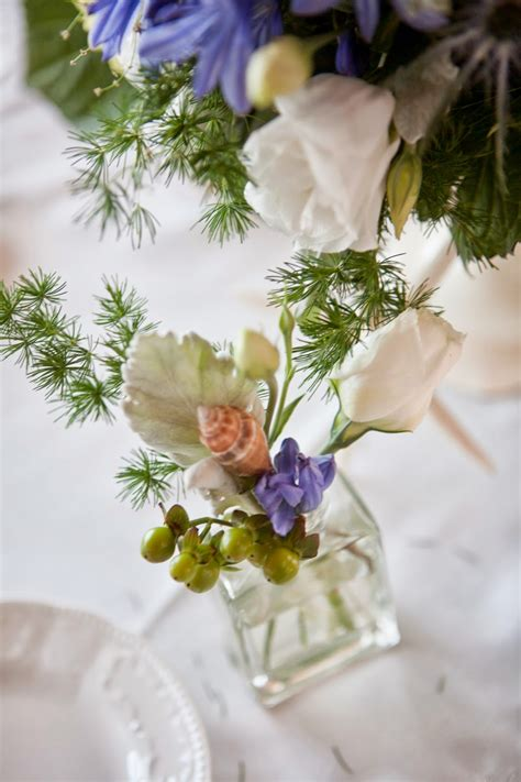 flower arrangement pictures with theme a gala affair events seaside wedding