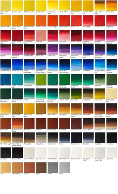 bob ross colors bob ross color palette