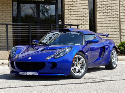 lotus exige  persian blue black seats  miles luxury vehicle  sale