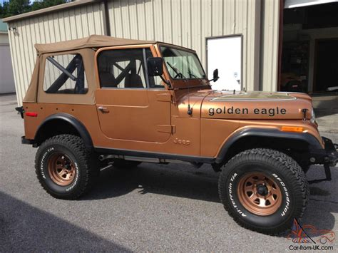 jeep golden eagle 1979 jeep cj7 golden eagle cj 7 automatic v8 80 restored