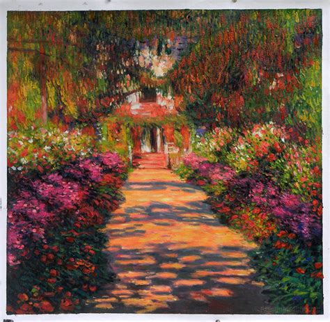 claude monet garten pathway in monet s garden at giverny 1902 by claude monet