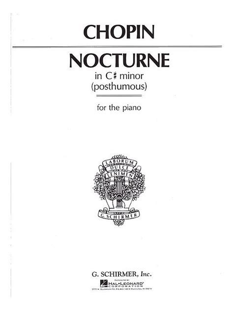 nocturne in c sharp minor b 49 sweet harmony free sheet music chopin fr 233 d 233 ric b 49 nocturne no