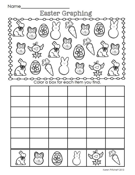 easter pattern activities easter math graphing missing number counting on ten