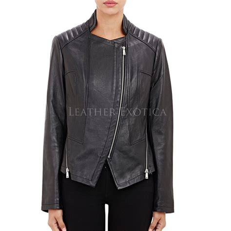 Quilted Leather Jacket Womens by Quilted Channel Moto Leather Jacket For