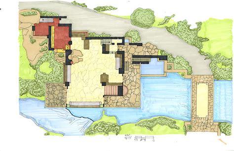 falling water floor plans quick hand renderings on behance